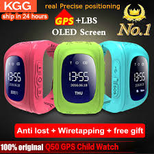 <b>Anti Lost</b> Q50 <b>Smart Watch</b> OLED Child <b>GPS</b> Tracker SOS Monitor ...