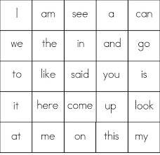 Sight Word Game: BINGOBINGO CARDS – 25 Sight Words