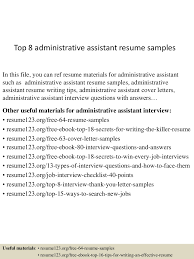 topadministrativeassistantresumesamples conversion gate thumbnail jpg cb