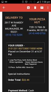 pizza hut corporate complaints number com