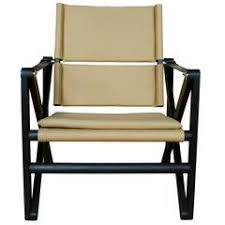 maclaren lounge chair in ebonized walnut with khaki canvas and black leather chatwin lounge chair lounge