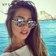 <b>WFEANG</b> Cat Eye Sunglasses Women Brand Designer Head ...