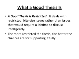 good thesis statements FAMU Online