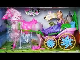 <b>Карета</b> с двигающейся <b>лошадью</b> и кукла принцесса / doll princess ...