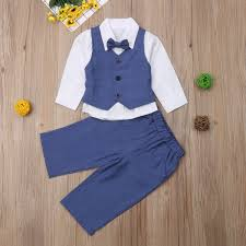 4pcs <b>Kid Baby Boy Gentry</b> Clothes Set Formal Party Clothes Suit ...