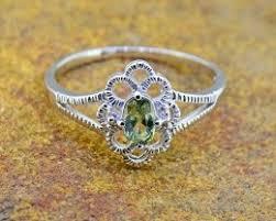 Green Sapphire Natural Size 5 <b>US</b>, <b>925 Sterling Silver</b>
