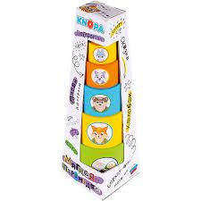 """<b>Мягкая пирамидка стаканчики</b> с наклейками <b>Knopa</b> """"Колобок ..."""