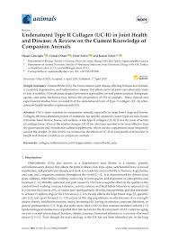 (PDF) <b>Undenatured Type II</b> Collagen (<b>UC</b>-<b>II</b>) in <b>Joint Health</b> and ...