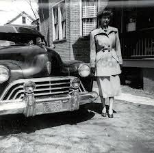 Bildresultat för lancia aurelia photo black and white 1954 woman