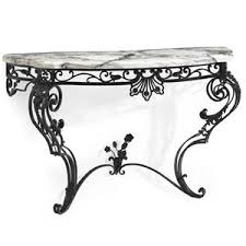 a victorian black painted wrought iron console table late 19th century european black wrought iron table