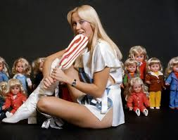 <b>ABBA's Agnetha Faltskog</b> Licks A Massive Lollipop (1976 Photos ...
