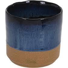 Кашпо для цветов 13х13х12 5см керамика темно-синий ...