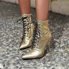 anmairon lace up high heels