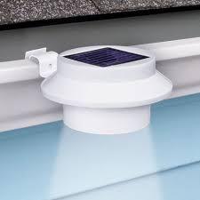 White Sun Power <b>Smart LED</b> Solar Gutter <b>Night</b> Utility Security <b>Light</b> ...
