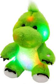 Bstaofy LED Dinosaur Stuffed Animal Glow Green <b>T</b>-<b>Rex</b> Light Up ...