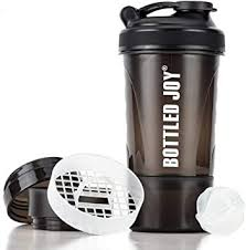 Protein <b>Shaker</b> Bottle with Storage Mixing Ball 100% <b>BPA Free Leak</b> ...
