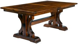 plank top trestle dining table dedon trestle dining table with saw marks