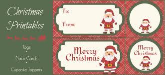santa gift tag printables i love my disorganized life