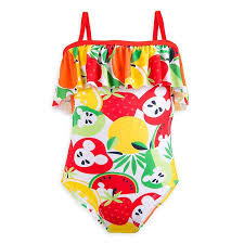Disney Store <b>1 PC Mickey</b> Minnie Mouse Swimsuit Girl Size 5/6 ...