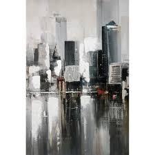 hometrends Embellished Abstract <b>City Canvas Wall</b> Art | Walmart ...