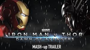 iron man v thor dawn of avengers batman v supermanavengersiron manthor 1 2 mash up trailer batman superman iron man 2