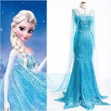 <b>Elegant Princess FROZEN ELSA</b> Women Gown Dress Cosplay ...