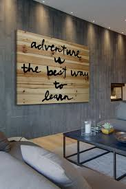 quote wall art canvas nursery decor playroom adventure is the best brown distressed wood wall art by marmont hill i