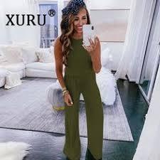 <b>Xuru Summer New</b> Best <b>Women's</b> Jumpsuit Loose Casual With ...