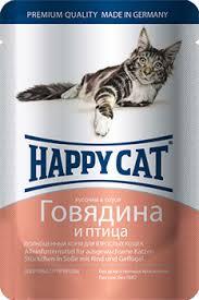 <b>Happy Cat</b> - <b>Паучи</b> для кошек (с говядиной и птицей) купить в ...