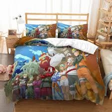 Blue <b>Naruto Bed Linen Set</b> 3D Print Cartoon Japanese Anime ...