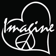 Imagine Love Peace Car Truck Window Bumper Vinyl ... - Amazon.com