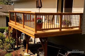 gallery metal deck railing ideas fascinating ricks fencing decking blog oregon washington cedar fences