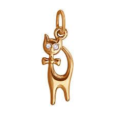 Золотая <b>подвеска</b> с <b>кошкой SOKOLOV</b> – купить в официальном ...
