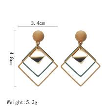 INS <b>FASHION</b>  <b>New Fashion</b> Geometry diamond <b>Korea earrings</b> ...