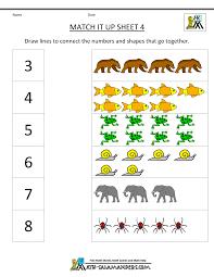 Math Worksheets Kindergartenkindergarten math worksheets match it up 4