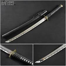 Zwart ninja zwaarden samurai katana 1095 koolstofstaal ...