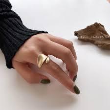 Niche design sense net red opening adjustable index finger ring ...