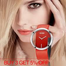 <b>DOM Watch Women luxury</b> Fashion Casual 30 m waterproof quartz ...
