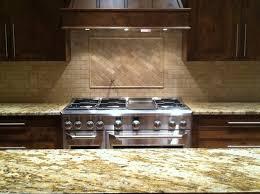 modern kitchen backsplash home design ideas with top lighting and brown wood cabinet modern subway tile cabinet lighting backsplash home design