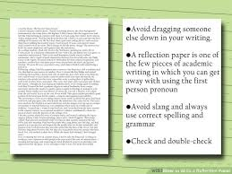 how to write a reflection paper   steps    pictures image titled write a reflection paper step