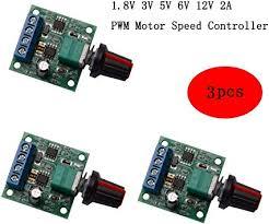 CHENBO <b>3Pcs DC</b> 1.8V 3V <b>5V</b> 6V 12V 2A PWM Motor Speed ...