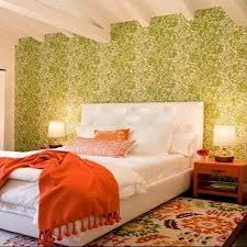 Orange Bedroom Wallpaper Decorating With A Triadic Color Scheme In The Bedroom