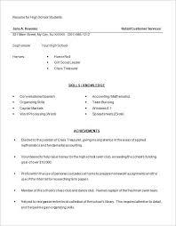 high school resume template –   free word  excel  pdf format    high school student resume word free download