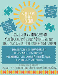 change the world be a teacher learn more at uc san diego s eds if you re interested in finding out how you can become a teacher plan to attend an information session dec 3 2014 5 30 to 7 p m at the bear room at uc