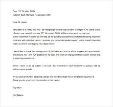 formal resignation letter      download free documents in word  pdfformal bank manager resignation letter