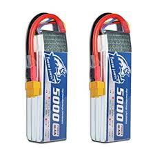 Yowoo <b>2 Pcs 3S</b> Lipo Battery 5000mAh 50C <b>11.1V</b> RC Battery with ...