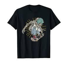 Skull And Bones Vintage Skate Skateboard T-Shirt ... - Amazon.com