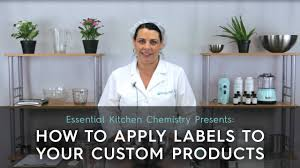 How to Apply Labels to Your Custom Cosmetic Products - YouTube