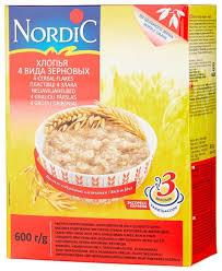 Купить <b>Nordic Хлопья 4</b> вида зерновых, 600 г по низкой цене с ...
