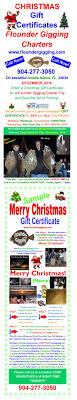 flounder gigging gift certificate